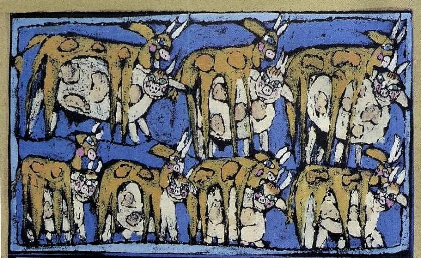 José interpreta o sonho de faraó