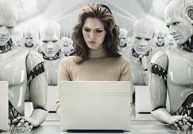 os robôs, as pessoas e o futuro do trabalho.2