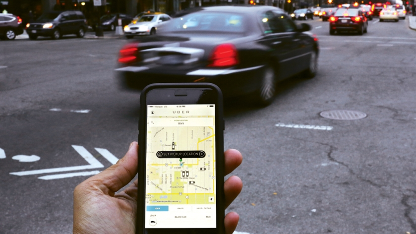 Uber chamando