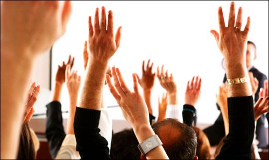 Levante a mão